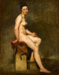 Nu assis dit Mademoiselle Rose (Eugène Delacroix) - Muzeo.com