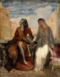 Othello et Desdemone à Venise (Shakespeare, Othello acte I) (Chasseriau Théodore) - Muzeo.com