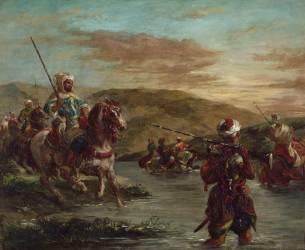 Passage d'un gué au Maroc (Delacroix Eugène) - Muzeo.com