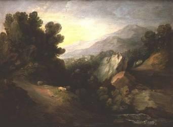 Paysage boisé et rocheux (Thomas Gainsborough) - Muzeo.com