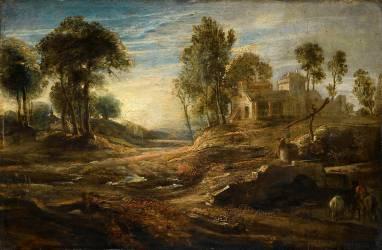 Paysage à l'abreuvoir (Rubens Pierre Paul) - Muzeo.com