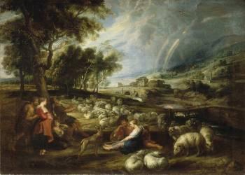 Paysage à l'arc-en-ciel (Pierre Paul Rubens) - Muzeo.com