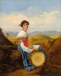 Paysanne de la campagne de Rome (Léopold Robert) - Muzeo.com