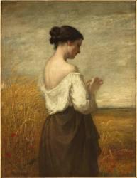 Paysanne ou la marguerite (William Morris Hunt) - Muzeo.com
