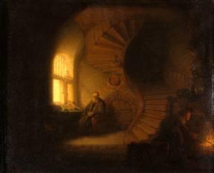 Philosophe en méditation (Rembrandt Harmensz van Rijn) - Muzeo.com