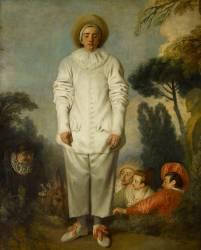 Pierrot, dit autrefois Gilles (Watteau Antoine) - Muzeo.com