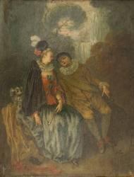 Pierrot et Colombine (Watteau Antoine) - Muzeo.com