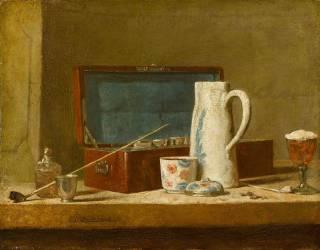Pipe et vase à boire dit la Tabagie (Chardin Jean Baptiste Siméon) - Muzeo.com