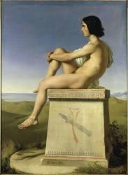 Polytés fils de Priam observant les mouvements des Grecs vers Troie (Hippolyte Flandrin) - Muzeo.com