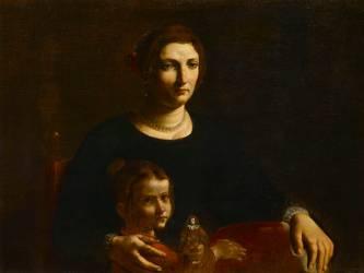 Portait de femme avec une petite fille (Pietro Paolini) - Muzeo.com