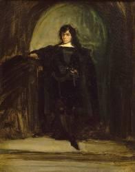 Portrait de Delacroix en Hamlet (Eugène Delacroix) - Muzeo.com
