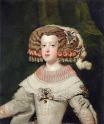 Portrait de l'Infante Marie-Thérèse, future reine de France (1638-1683) (Diego Vélasquez) - Muzeo.com
