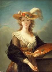 Portrait de Marie-Louise-Elisabeth Vigée-Le Brun (1755-1842), peintre (Eugénie Tripier Lefranc) - Muzeo.com
