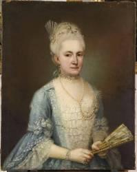 Portrait de Mathilde Querini da Ponte (Pietro Longhi) - Muzeo.com