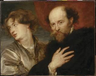 Portrait de Rubens et de Van Dyck (Antoon Van Dyck (d'après)) - Muzeo.com