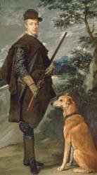 Portrait du cardinal infant Ferdinand d'Autriche avec un chien et un pistolet (Diego Vélasquez) - Muzeo.com
