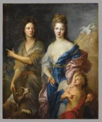 Portrait d'un couple en Vénus et Pâris (François de Troy) - Muzeo.com
