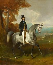 Portrait équestre du comte de Montgomery (Alfred Dedreux) - Muzeo.com
