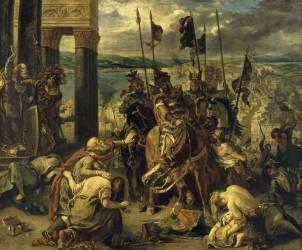 Prise de Constantinople par les croisés (12 avril 1204) (Eugène Delacroix) - Muzeo.com