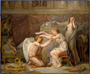 Psyché couronnant l'Amour (Jean-Baptiste Greuze ) - Muzeo.com