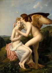 Psyché et l'Amour, dit aussi Psyché recevant le premier baiser de l'Amour (François Gérard) - Muzeo.com