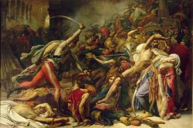 Révolte du Caire le 21 octobre 1798 (Anne-Louis Girodet) - Muzeo.com