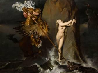 Roger délivrant Angélique (Jean-Auguste-Dominique Ingres) - Muzeo.com
