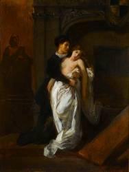 Roméo et Juliette devant le tombeau des Capulets (Eugène Delacroix) - Muzeo.com