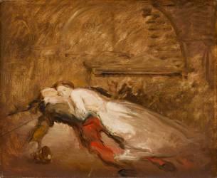 Roméo et Juliette, esquisse (Shakespeare, acte V, scène 3) (Chasseriau Théodore) - Muzeo.com