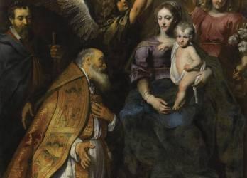 Saint Eloi au pied de la Vierge (Seghers Gérard) - Muzeo.com