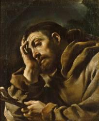 Saint François en méditation (Le Guerchin) - Muzeo.com