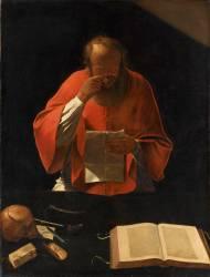 Saint Jérôme lisant (Anonyme) - Muzeo.com