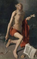 Saint Jérôme pénitent, dit Saint Jérôme à l'auréole (La Tour Georges de) - Muzeo.com