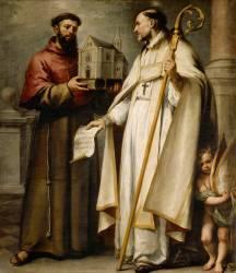 Saint Léandre et saint Bonaventure (Bartolome Esteban Murillo) - Muzeo.com