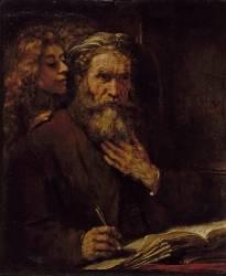 Saint Mathieu et l'Ange (Rembrandt) - Muzeo.com
