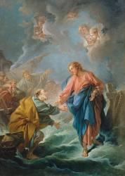 Saint Pierre tentant de marcher sur les eaux (François Boucher) - Muzeo.com