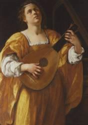 Sainte Cécile (Artemisia Gentileschi) - Muzeo.com