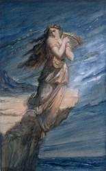Sapho se précipitant dans la mer du rocher de Leucade (Chasseriau Théodore) - Muzeo.com