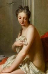 Suzanne au bain (détail) (Jean-Baptiste Santerre) - Muzeo.com