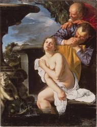 Suzanne et les vieillards (Artemisia Gentileschi) - Muzeo.com
