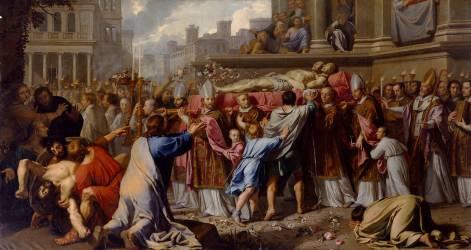 Translation des Corps de Saint Gervais et Saint Protais (Philippe de Champaigne) - Muzeo.com