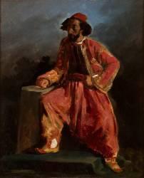 Turc assis (Delacroix Eugène) - Muzeo.com