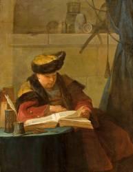 Un Chimiste dans son laboratoire (Chardin Jean Baptiste Siméon) - Muzeo.com