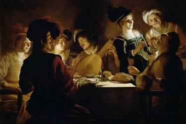 Un Dîner (Gerrit Van Honthorst) - Muzeo.com