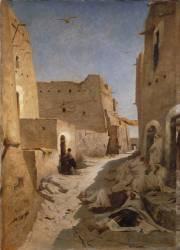 Une rue à El-Aghouat ou Laghouat (Fromentin Eugène) - Muzeo.com