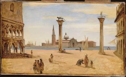 Venise, la piazzetta (Jean-Baptiste Camille Corot) - Muzeo.com