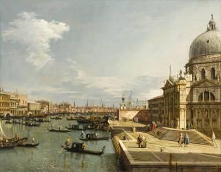 Venise, l'église de la Salute (Antonio Canaletto) - Muzeo.com