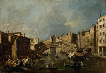 Venise, pont du Rialto (Francesco Guardi) - Muzeo.com