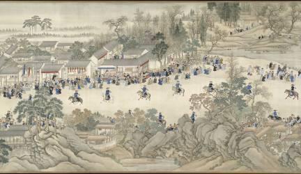 Voyages d'inspection dans le Sud de l'empereur Kangxi (Gu Fang, Wang Hui, Yang Jin) - Muzeo.com
