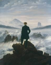 Voyageur devant la mer de nuage (Caspar David Friedrich) - Muzeo.com